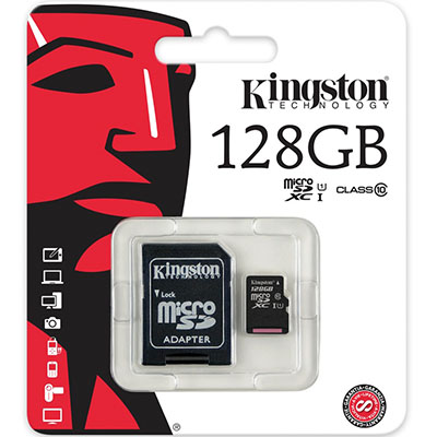 MEMORIA MICRO SD KINGSTON 128GB CLASE 10